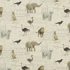Ivory Print Drapery and Upholstery Fabric by G P & J Baker