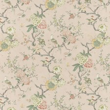Blush Animal Drapery and Upholstery Fabric by G P & J Baker