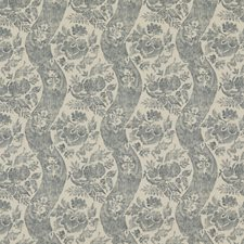 Soft Blue Print Drapery and Upholstery Fabric by G P & J Baker