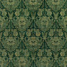 Emerald Damask Drapery and Upholstery Fabric by G P & J Baker