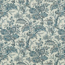 Blue/Sand Paisley Drapery and Upholstery Fabric by G P & J Baker