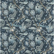 Indigo Animal Drapery and Upholstery Fabric by G P & J Baker