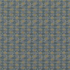 Blue Animal Drapery and Upholstery Fabric by G P & J Baker