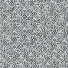 Blue Print Drapery and Upholstery Fabric by G P & J Baker