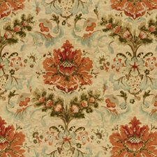 Copper On Sand Botanical Drapery and Upholstery Fabric by Brunschwig & Fils