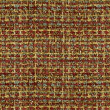Red/Gold Texture Drapery and Upholstery Fabric by Brunschwig & Fils