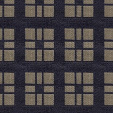 Navy/Brown Geometric Drapery and Upholstery Fabric by Brunschwig & Fils
