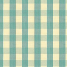 Aqua Check Drapery and Upholstery Fabric by Brunschwig & Fils