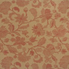 Tomato Botanical Drapery and Upholstery Fabric by Brunschwig & Fils
