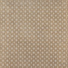 Honey-Beige Geometric Drapery and Upholstery Fabric by Brunschwig & Fils