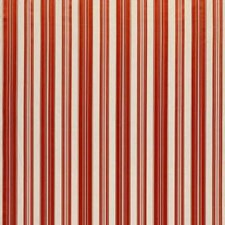 Coral Red Stripes Drapery and Upholstery Fabric by Brunschwig & Fils