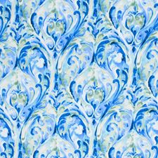 Blue Drapery and Upholstery Fabric by RM Coco