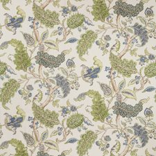 White/Purple/Green Botanical Drapery and Upholstery Fabric by Kravet