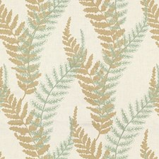 Mineral Grey Botanical Drapery and Upholstery Fabric by Kravet