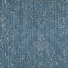 Prussian Blue Drapery and Upholstery Fabric by Scalamandre