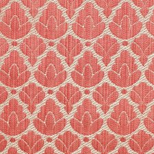 Red/Linen Drapery and Upholstery Fabric by Scalamandre