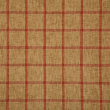 Crimson Check Drapery and Upholstery Fabric by Pindler
