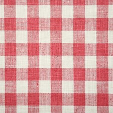 Raspberry Check Drapery and Upholstery Fabric by Pindler