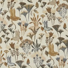 Brown/Grey/Silver Traditional Drapery and Upholstery Fabric by JF