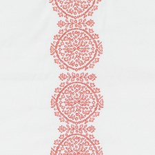 Coral Embroidery Drapery and Upholstery Fabric by Duralee