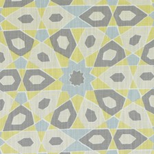 Citron Abstract Drapery and Upholstery Fabric by Duralee