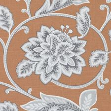 Orange Leaf Drapery and Upholstery Fabric by Duralee