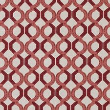 Red Geometric Drapery and Upholstery Fabric by Duralee