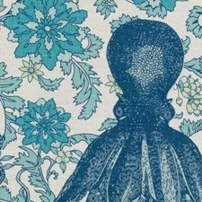 Blue/Turquoise Animal Drapery and Upholstery Fabric by Duralee