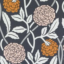 Charcoal Floral Large Drapery and Upholstery Fabric by Duralee
