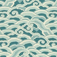 Peacock Asian Drapery and Upholstery Fabric by Kravet