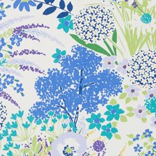 Blue/Green Floral Large Drapery and Upholstery Fabric by Duralee