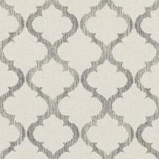 Grey Medallion Drapery and Upholstery Fabric by Duralee