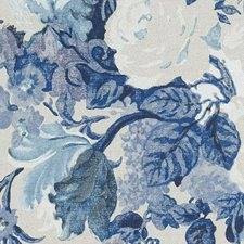 Indigo Floral Large Drapery and Upholstery Fabric by Duralee