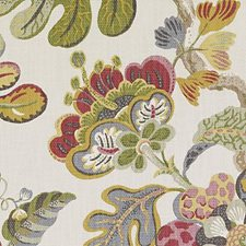 Pink/Green Floral Large Drapery and Upholstery Fabric by Duralee