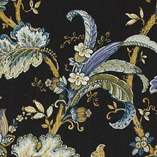 Midnight Floral Large Drapery and Upholstery Fabric by Duralee