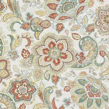 Natural/Russett Floral Medium Drapery and Upholstery Fabric by Duralee