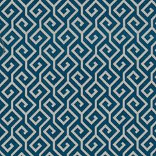 Slate Geometric Drapery and Upholstery Fabric by Duralee