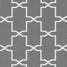 Smoke Geometric Drapery and Upholstery Fabric by Duralee