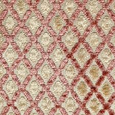 Rose/Creme Drapery and Upholstery Fabric by Scalamandre