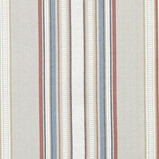 Red/Blue Stripe w Drapery and Upholstery Fabric by Duralee