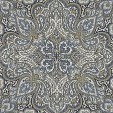 Blue/Gold Paisley Drapery and Upholstery Fabric by Duralee