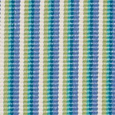 Teal Stripe Drapery and Upholstery Fabric by Duralee