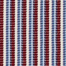 Red/Blue Stripe Drapery and Upholstery Fabric by Duralee