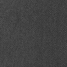 Black Geometric Drapery and Upholstery Fabric by Duralee