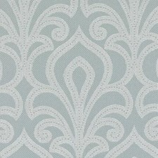 Seafoam Damask Drapery and Upholstery Fabric by Duralee