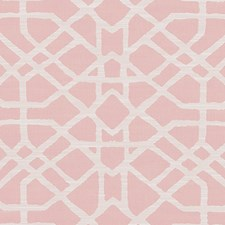 Pink Trellis Drapery and Upholstery Fabric by Duralee