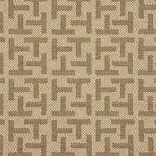 Mink Geometric Drapery and Upholstery Fabric by Threads