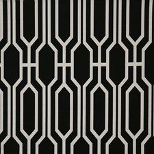 Black/Offwhite/White Traditional Drapery and Upholstery Fabric by JF