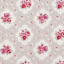 Raspberry Dots Drapery and Upholstery Fabric by Clarke & Clarke