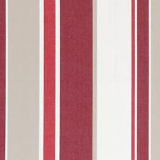 Crimson Stripe Drapery and Upholstery Fabric by Clarke & Clarke